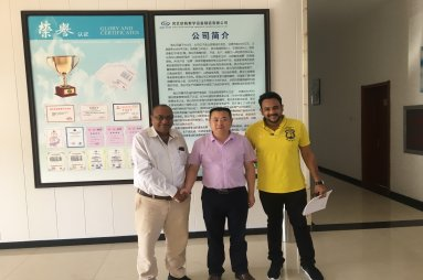 Indian Customer Visits Our Factory After Shanghai Sports Exhibition