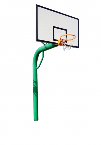 219 buried round pipe basketball stand