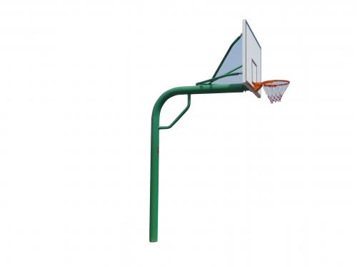 Buried round pipe basketball stand
