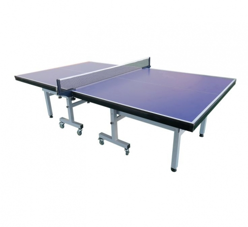 Single- foldable tennis table with wheel