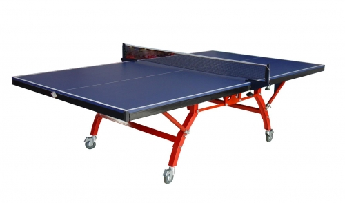 Double- foldable tennis table with wheel